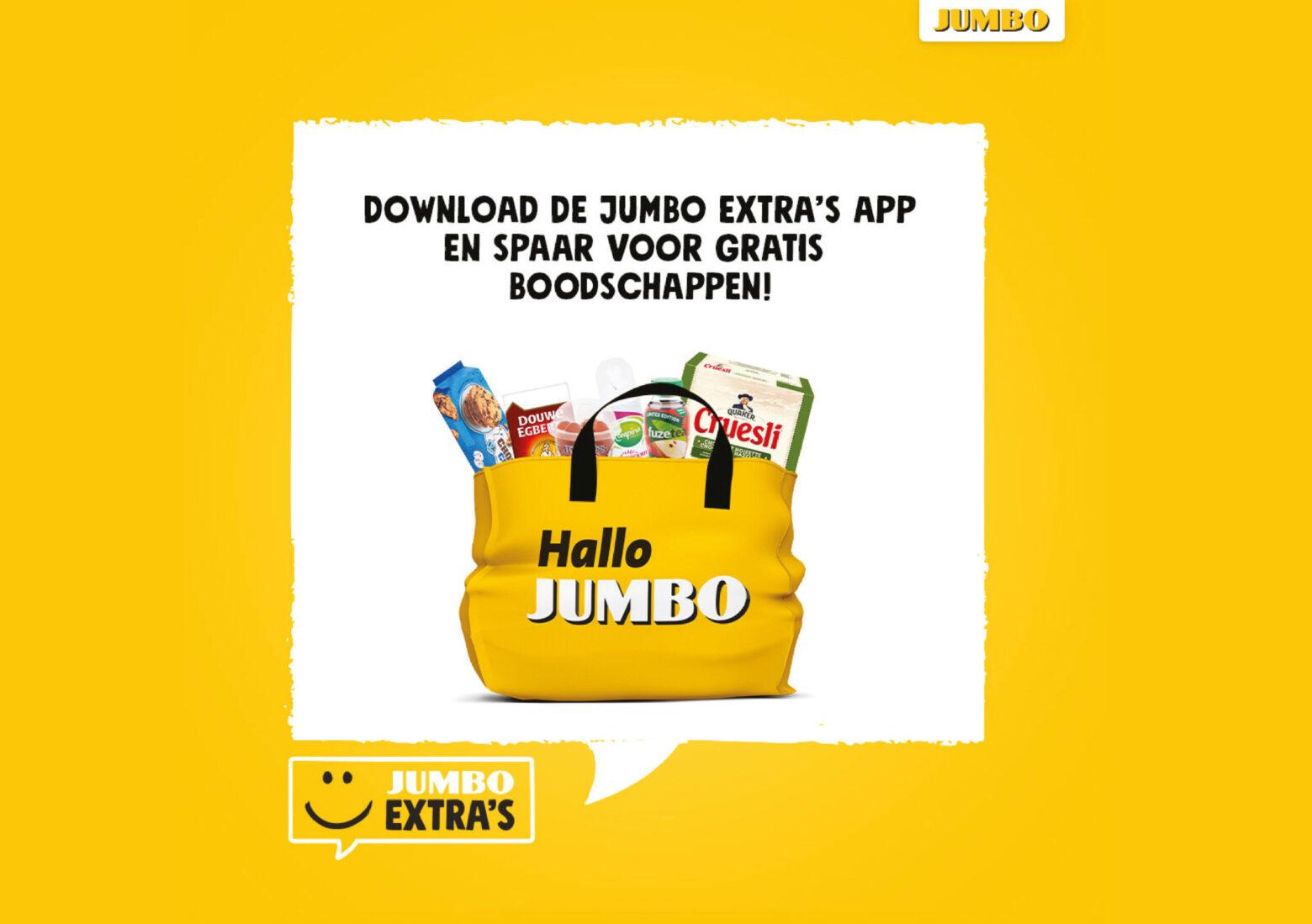 Spaar voor gratis boodschappen met Jumbo Extra's
