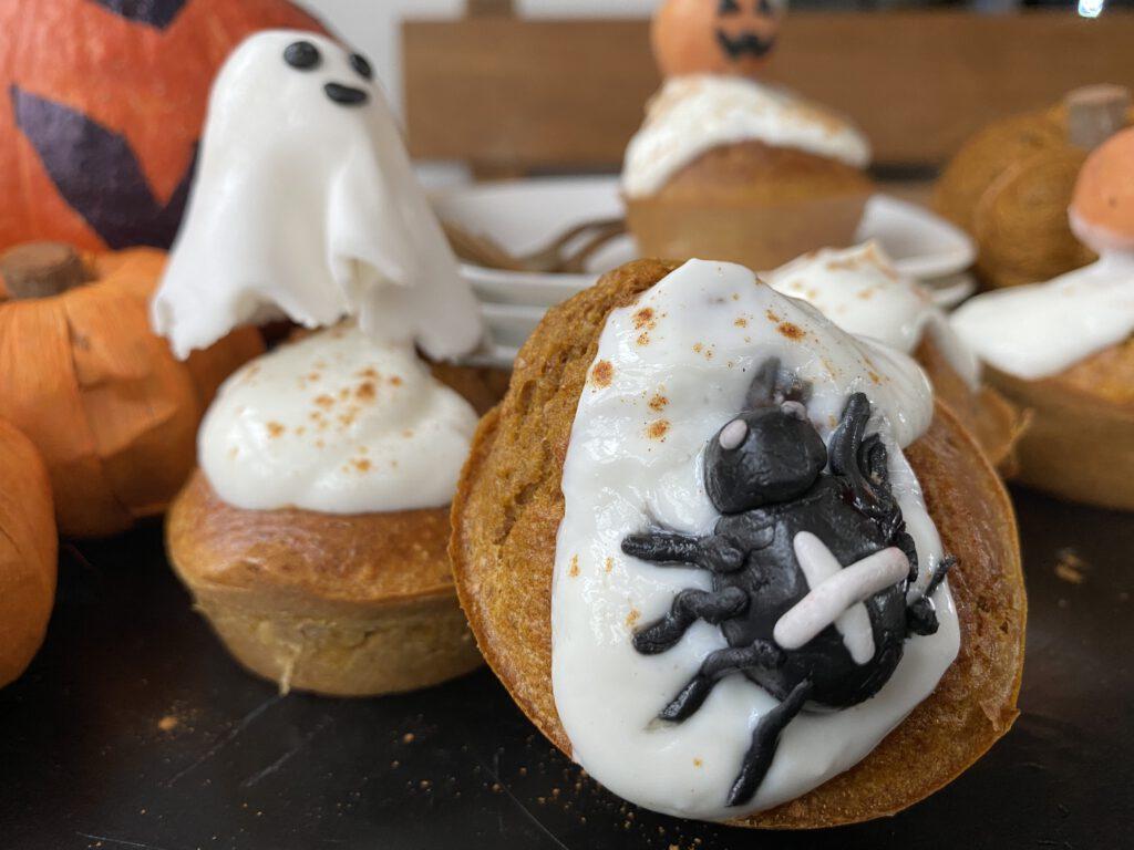 Halloween pompoenmuffin